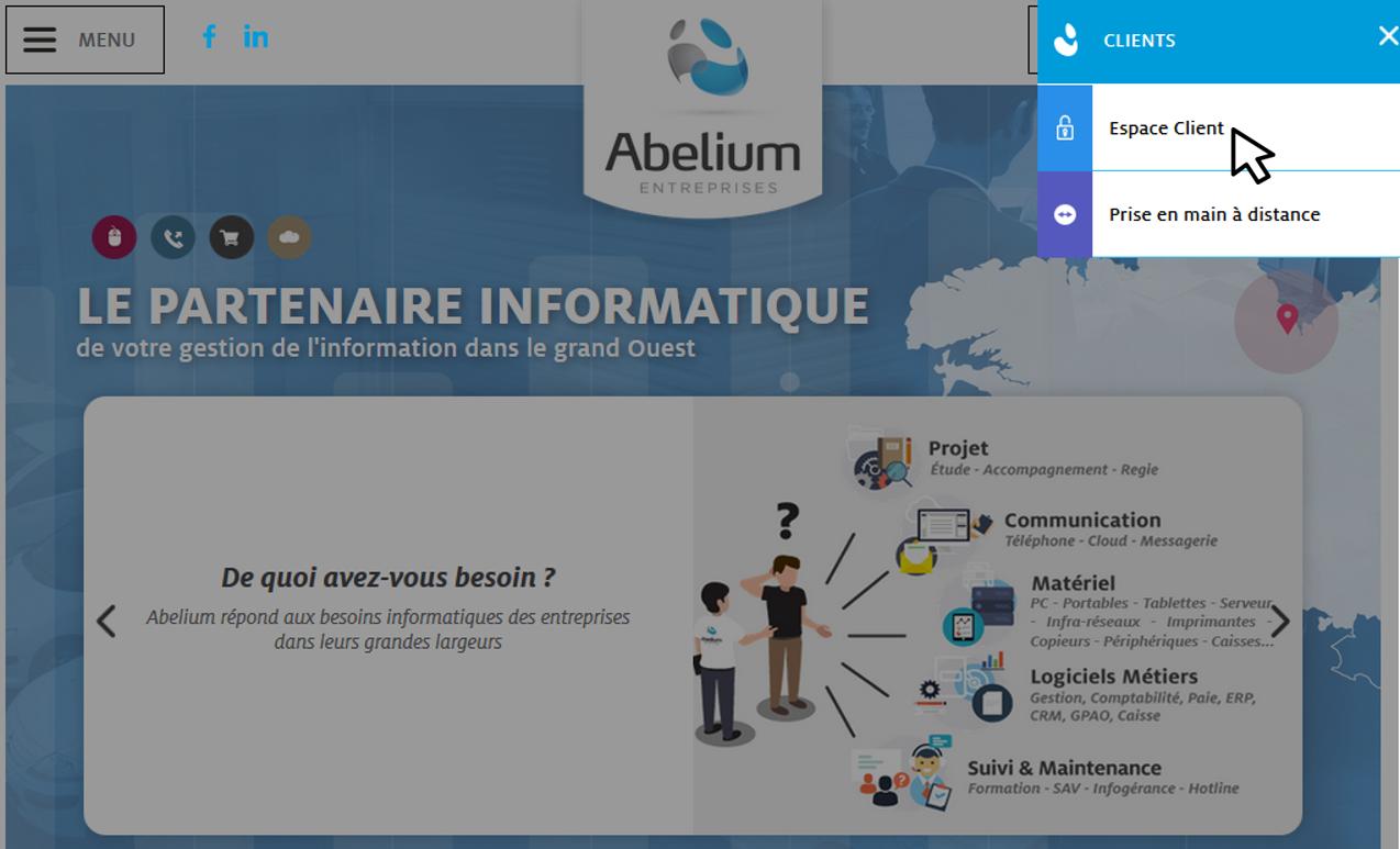 Espace Client Site Internet Abelium
